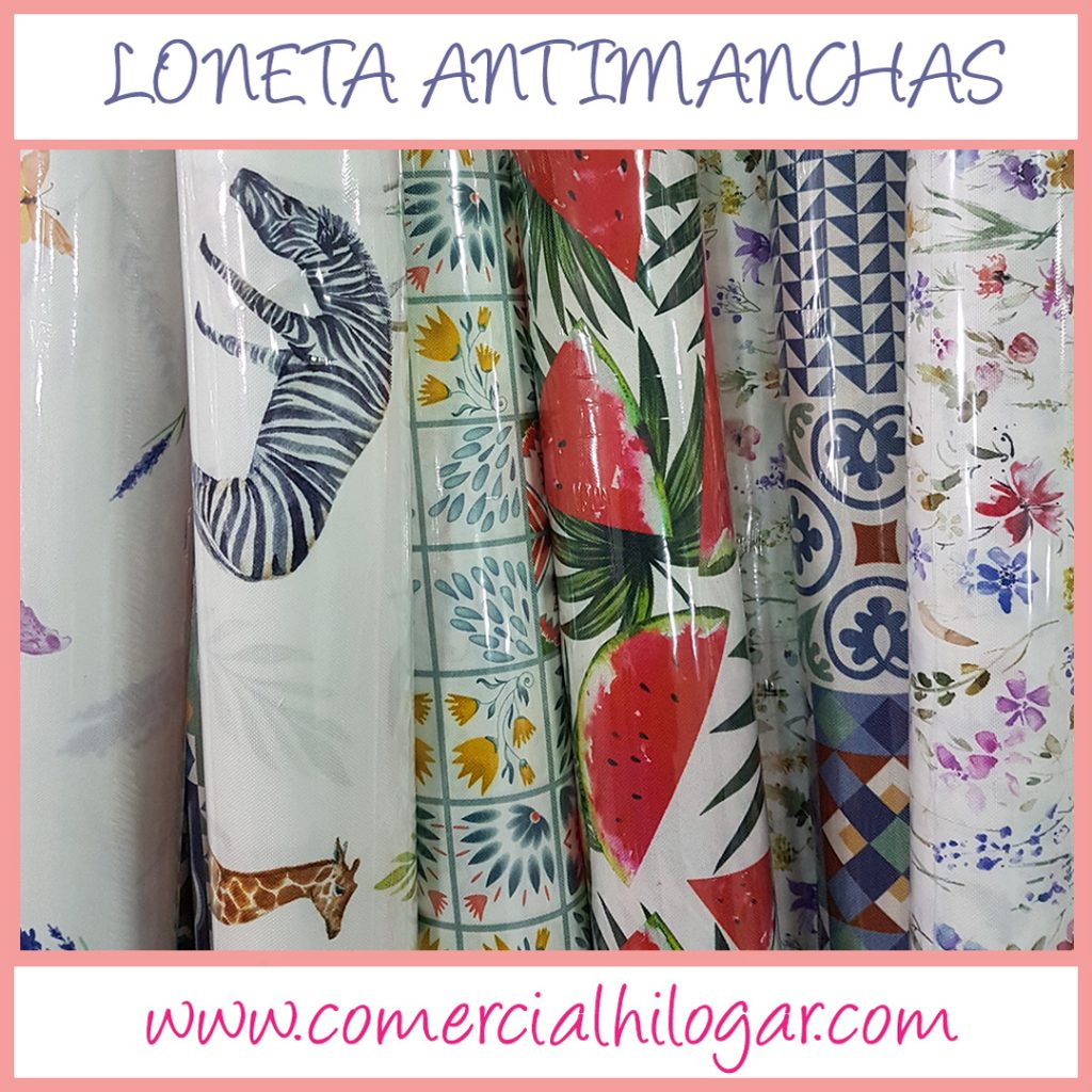 Loneta estampada antimanchas