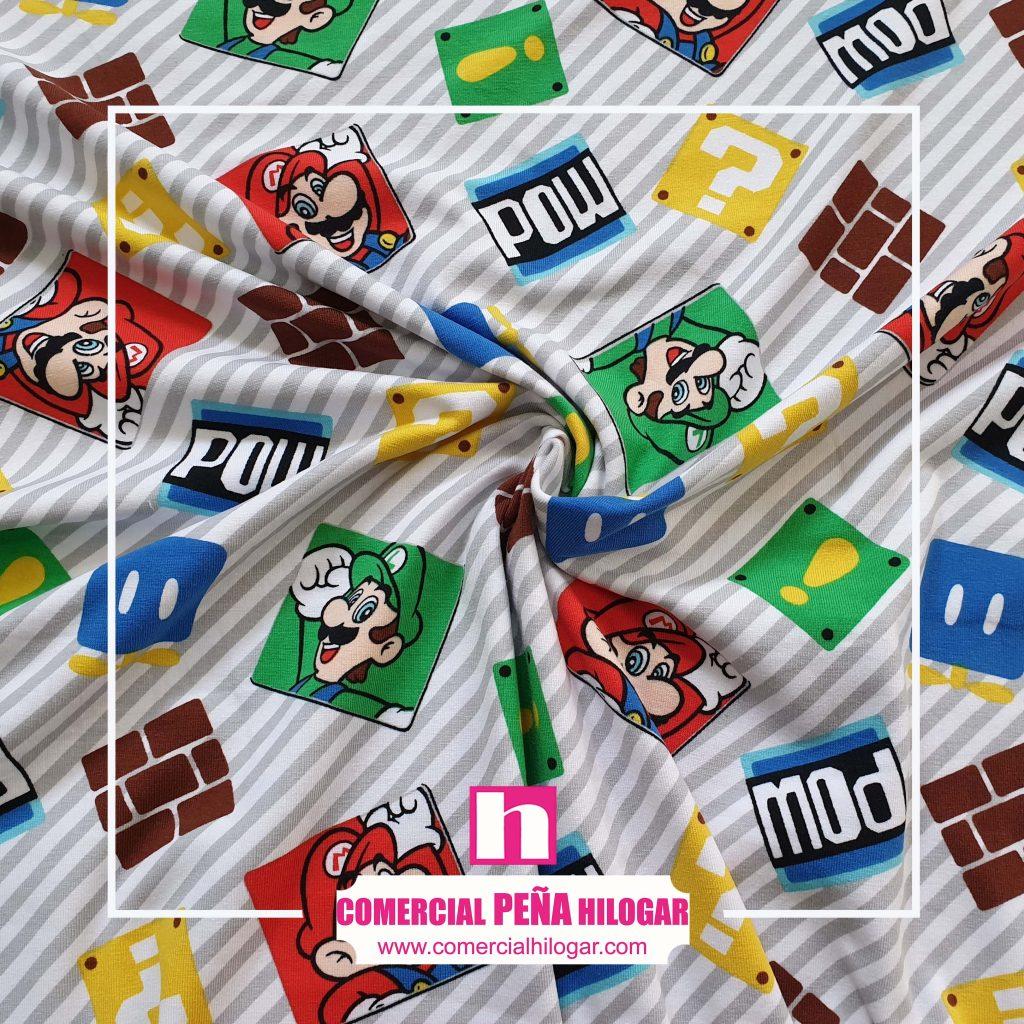 Super Mario en tejido de punto